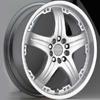 Akuza 392 Padrone Silver 14 X 6 Inch Wheel