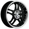 Akuza 421 Black 17 X 7.5 Inch Wheel