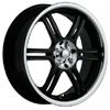 Akuza 424 Black 17 X 7.5 Inch Wheel