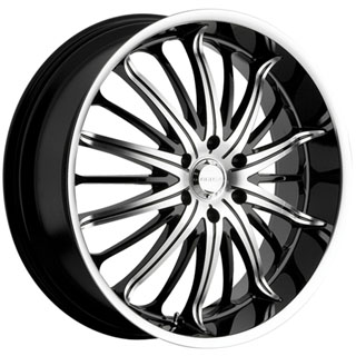 Akuza 761 Belle Black Wheel Packages