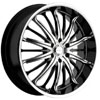 Akuza 761 Belle Black 24 X 9 Inch Wheel