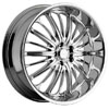 Akuza 761 Belle Chrome 24 X 9 Inch Wheel