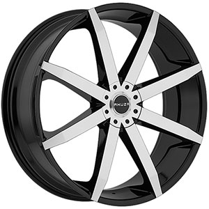 Akuza 843 Zenith Gloss Black with Machined Face 18 X 8 Inch Wheel