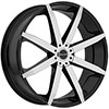 Akuza 843 Zenith Gloss Black with Machined Face 24 X 8.5 Inch Wheel