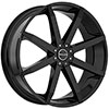 Akuza 843 Zenith Gloss Black 24 X 8.5 Inch Wheel