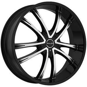 Akuza 847 Shadow Gloss Black Machined Wheel Packages