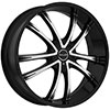 Akuza 847 Shadow Gloss Black Machined 24 X 8.5 Inch Wheel