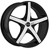 Akuza 848 Axis Gloss Black with Machined Face 18 X 8 Inch Wheel