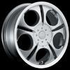 Akuza Aka 272 Silver Machined Lip 14 X 6 Inch Wheel