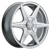 Akuza Aka 363 Silver 14 X 6 Inch Wheel