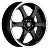 Akuza Aka 372 Black Machined Lip 14 X 6 Inch Wheel