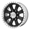 American Racing  AR321 Fuel 16X8 Gloss Black With Diamond Cut Lip