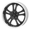 American Racing  AR383 Casino 17X7.5 Gloss Black With Diamond Cut Lip