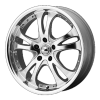American Racing  AR393 Casino 17X7.5 Hyper Black With Machined Lip