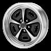 American Racing  AR500 17X7 2-Piece Gloss Black/Polished With Polished Rim