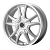 American Racing  AR607 Alert 16X7 Silver With Diamond Cut Lip