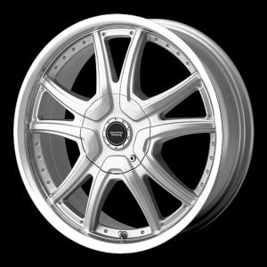 American Racing  AR607 Alert Silver With Diamond Cut Lip