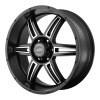 American Racing  AR890 17X8 Satin Black Machined