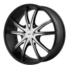 American Racing  AR897 18X8 Gloss Black Machined