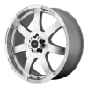 American Racing  AR899 17X8 Bright Silver With Machined Face