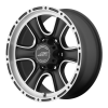 American Racing  AR902 17X8 Satin Black Machined