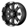American Racing  AX185 Crawl 17X8 Matte Black Machined