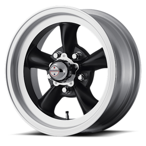 American Racing VN105D Torq Thurst D Satin Black with Machined Lip