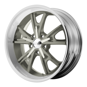 American Racing  VN801 Daytona 17X8 Mag Gray Center Machined Lip