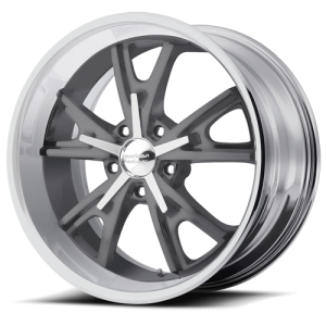 American Racing VN801 Daytona Mag Gray with Machined Lip