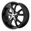 American Racing  VN801 Daytona 17X8 Satin Black With Machined Face