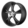 American Racing  VN805 Blvd 17X8 Satin Black With Machined Face