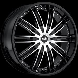 Avenue type 603 Black Machined 18 X 7.5 Inch Wheel