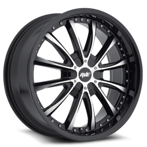 Avenue 611 18X8 Gloss Black Machine Face