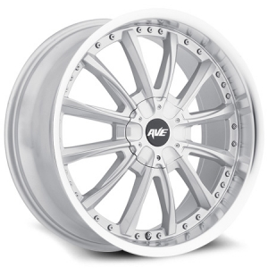 Avenue 611 18X8 Gloss Silver with Machined Lip