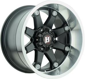 Ballistic 581 Beast 20X10 Gloss Black Lip Machined
