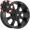 Ballistic Morax 845 Black Center Cap