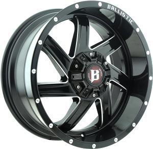 Ballistic 961 Guillotine 17X9 Gloss Black