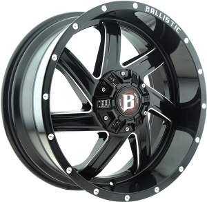 Ballistic 961 Guillotine 18X9 Gloss Black