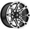 Ballistic Jester 814 17X9 Gloss Black Machined