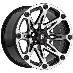 Ballistic Jester 814 22X9 Gloss Black Machined