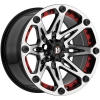 Ballistic Jester 814 17X9 Gloss Black Machined With Red Insert