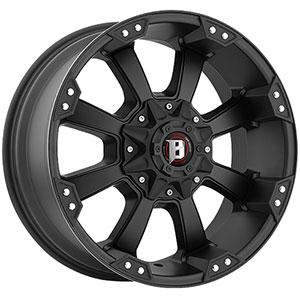 Ballistic Morax 845 Flat Black 17 X 9 Inch Wheel