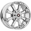 Ballistic Morax 845 Chrome 17 X 9 Inch Wheel