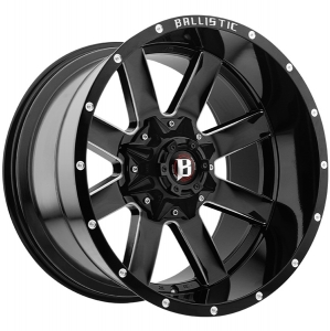 Ballistic Rage 959 22X12 Gloss Black Milled