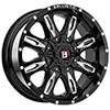 Ballistic Scythe 953 Gloss Black 17 X 9 Inch Wheel