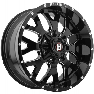 Ballistic Tank 853 18X9 Gloss Black Milled