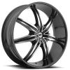 BBY 946 22X9 Gloss Black Machined