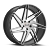 Blaque Diamond BD-1 22X10.5 Matte Graphite with Machined Face