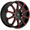 Blaque Diamond Dust - Red 24 Inch Wheels