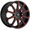 Blaque Diamond Dust - Red 24 Inch Wheels